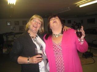 Karen and Elizabeth enjoying the party