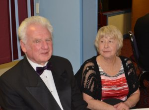 Festival revellers John and Janice Hudson