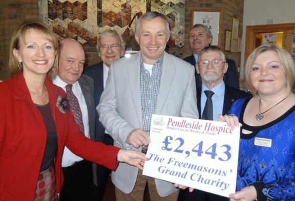 Pendleside Hospice Cheque