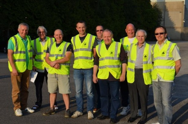 Burnley District Freemasons volunteer marshals.