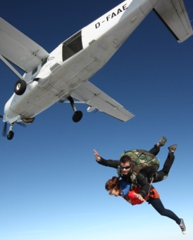 Tandem Parachute jump from 12000 ft.
